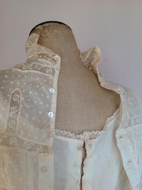 amazing antique victorian wedding dress 1890s 4PC - image 2