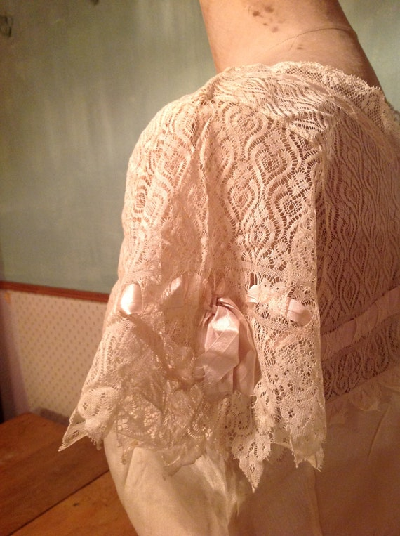 beautiful antique edwardian silk and lace camisol… - image 6
