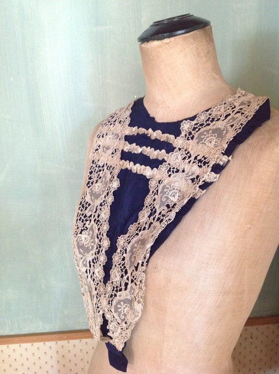 1890s antique modesty panel jabot bodice panel - image 2