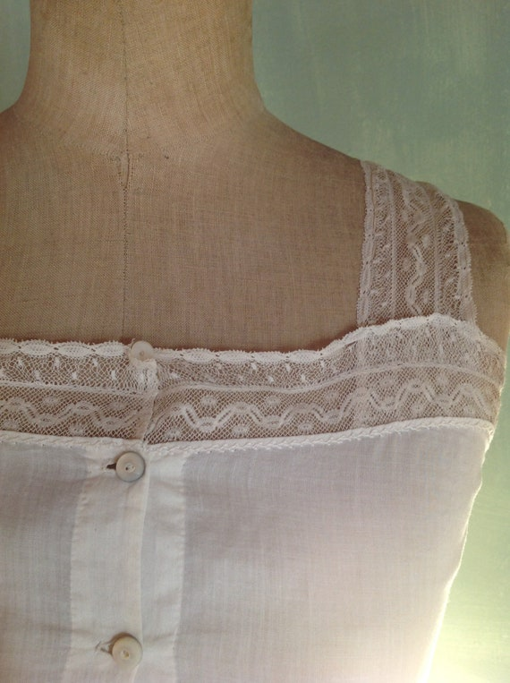 antique victorian edwardian corset cover camisole - image 3
