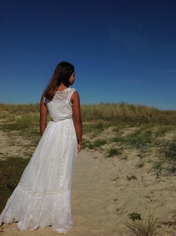 antique camisole, valenciennes lace bridal top