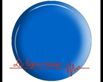 resin cabochon with or without support, or glass, silver or bronze, blue plain pattern (2777)