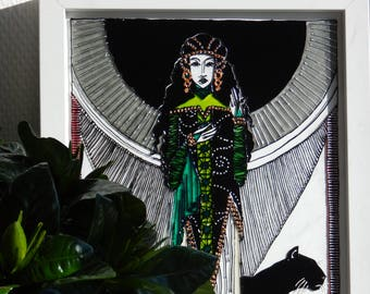 The Witch - Painting on glass