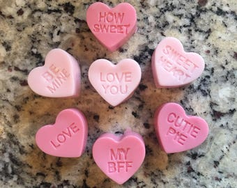 Valentine heart soaps