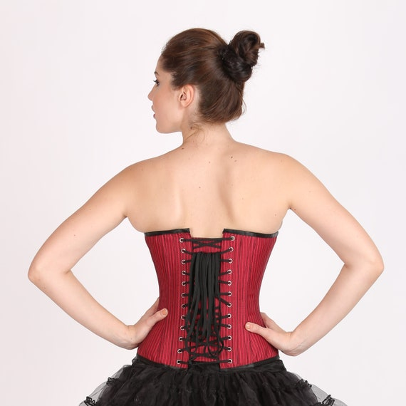 7b132edf0d2 Red Lining Cotton Polyester Black Net Gothic Burlesque Waist