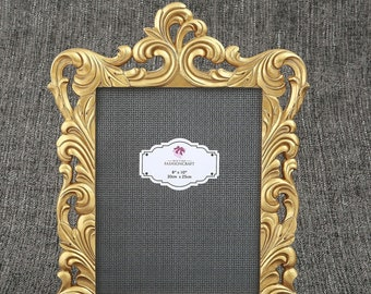26da0380035 Large Gold Frame 8x10 Baroque Photo Picture Frame - Wedding Table Number  Holder - Display Sign - Decorations MW70020