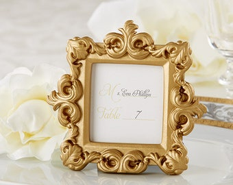 78e6094d7b6 Small Gold Frame Royale Baroque Square Photo Picture Frame - Wedding Bridal  Shower Party Favors - Place Card Holders - Decorations MW30671