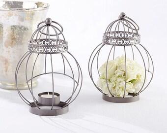 Birdcage Centerpiece Lanterns   Set Of 12   Vintage Style Bird Cage Lantern  Wedding Reception Table Decorations   Spring Garden MW34959