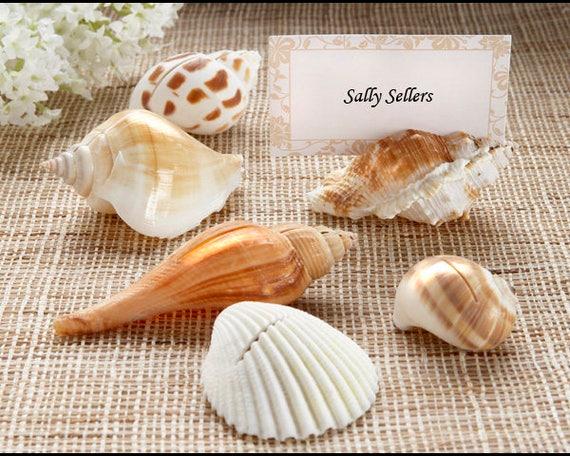 40 Beach Themed Photo Frame Wedding Favors Seashell Place card Holder