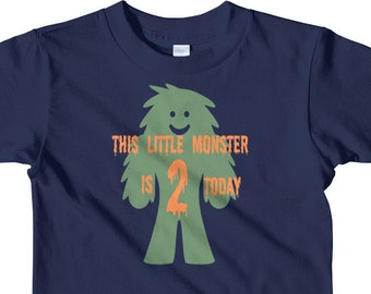 Second Birthday Boy T-shirt - 2nd Birthday Shirt - Little Monster Birthday - My Little Monster - Happy 2nd Birthday - Happy Second Birthday