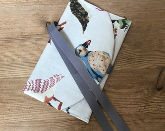 Puffin knitting and sewing notions pouch, gift for knitters, knitting accessories, gift for mom, gift for mum