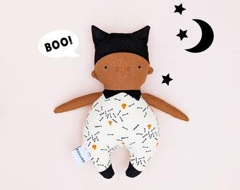 Black cat doll / Halloween / skull and bone / trick or treat
