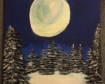 White Forest glowing moon