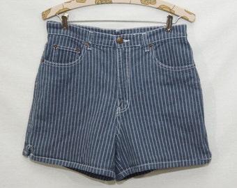 Vintage Striped Bill Blass Jean Shorts