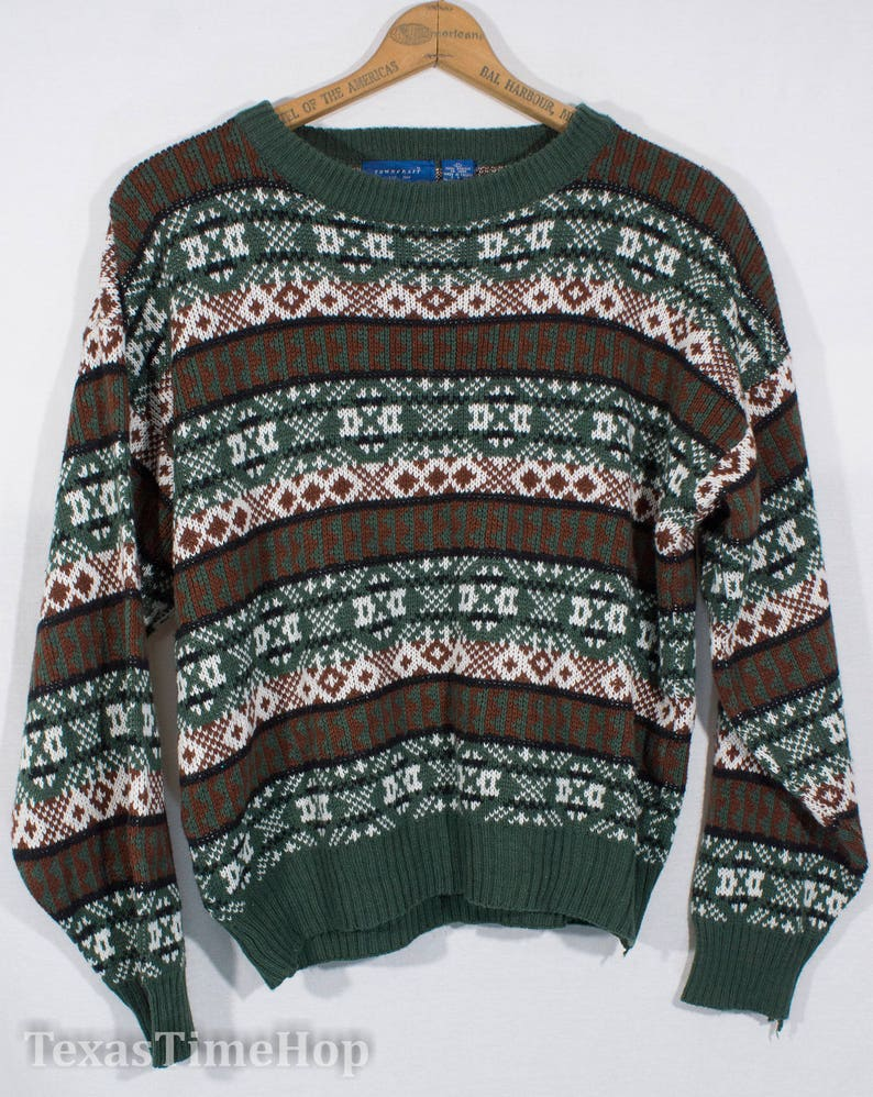 09cac41271f1 Vintage Knit Sweater 1980 s JC Penneys Towncraft Pullover
