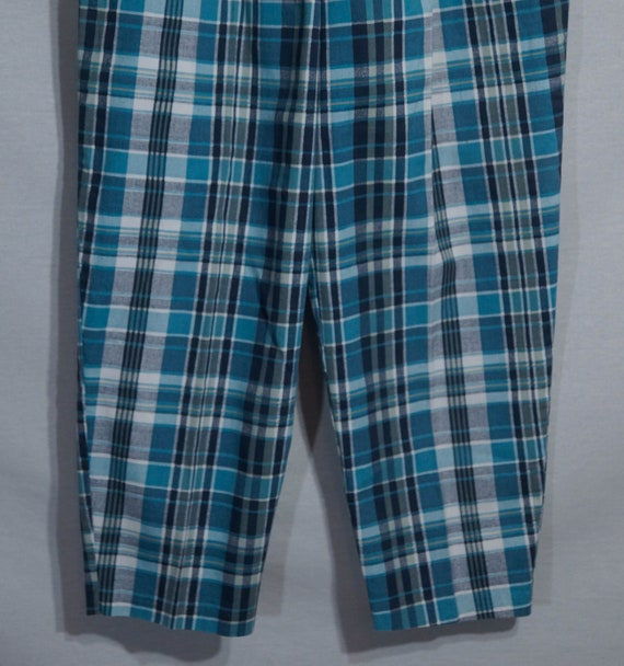 Vintage Plaid Pants 80s Union Made in USA Label 1… - image 8