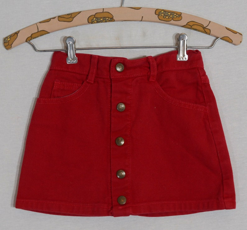 1980/'s Guess Jean Vintage Mini Made in USA Red Denim Girls Size 4T