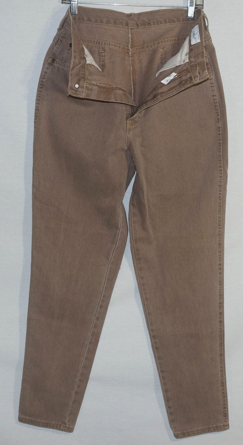 1980/'s Jeans Vintage Chic Made in USA Deadstock NWT High Rise Tan Denim  30 High Waist