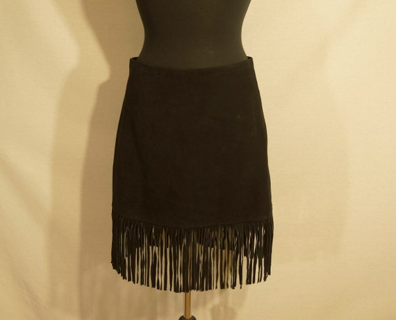 1980's NWT Suede Skirt Vintage Leather Mini Wester