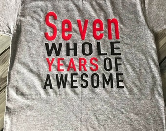 Personalized 7th Birthday Shirt, Boys 7th Birthday Shirt, Birthday Shirt Boys