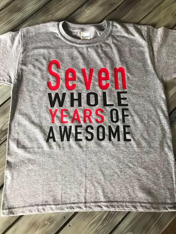 7th Birthday Shirt Boys Boy 7 Seventh