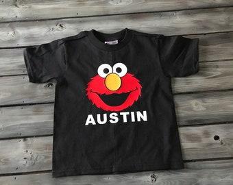 Elmo Birthday Shirt, Personalized Boys Elmo Shirt, Elmo Birthday Shirt Boy, Toddler Elmo Shirt