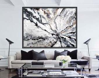 Large Abstract Painting Original Large Abstract Art Contemporary  Painting Piece Of Serenity