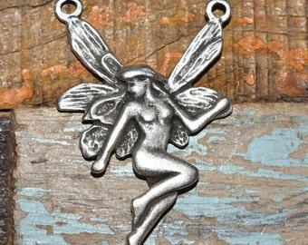 Fairy pendant etsy mykonos pendant fairy pendant 30x47 mm mykonos castings fairy connector fairy charms antique silver quantity 1 aloadofball Images