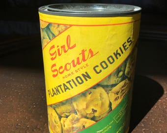 Vintage Girl Scout Plantation Cookie Tin