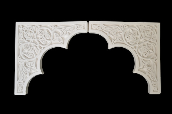 Plaster Gypsum Arch Moroccan Border Carved Doorway Arches Etsy