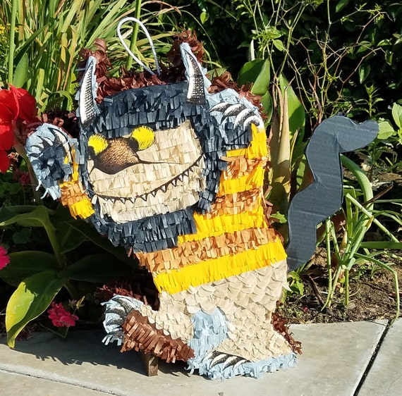 where the wild things are monster themed pinata etsy