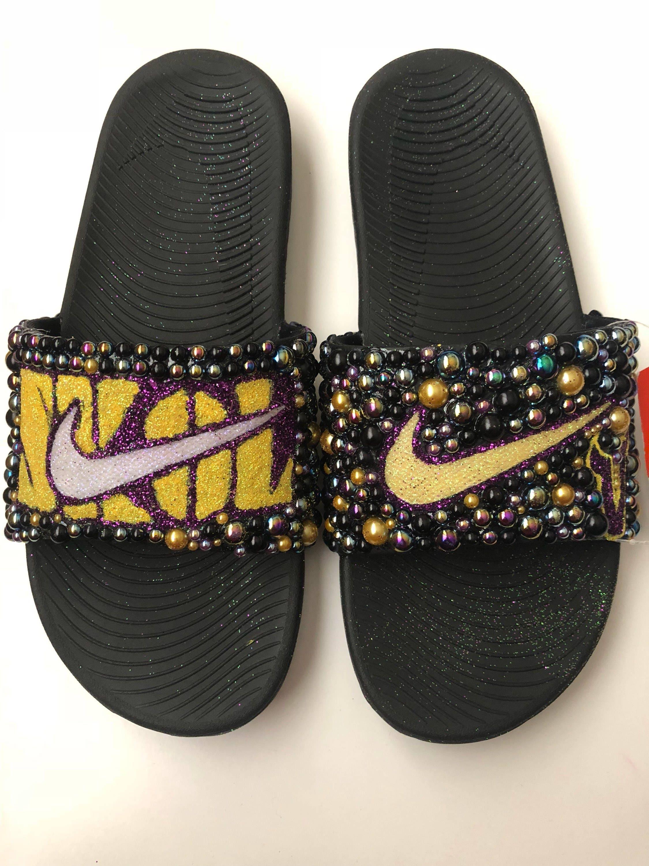 386d60f0 Mens MN Vikings Customized Nike Slides
