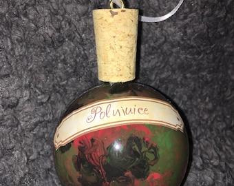 Polyjuice potion bottle ornament
