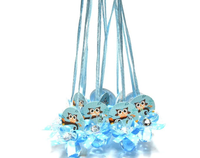 Pacifier Necklaces-Baby Shower Games. Owl.