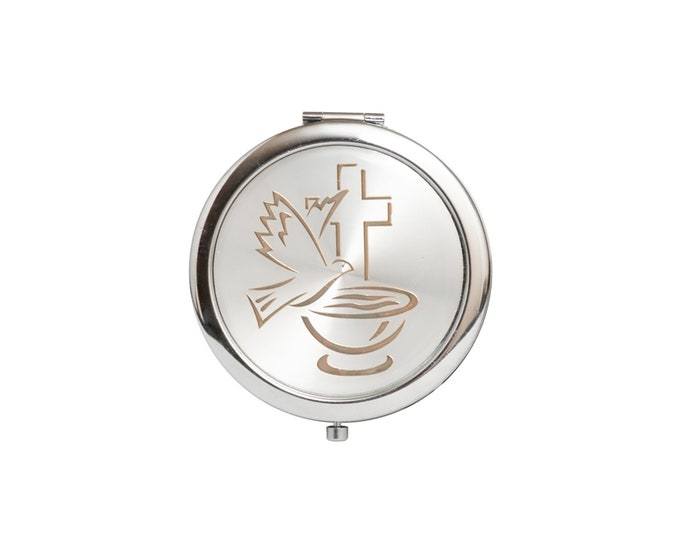 Compact Mirror Party Favors. Holy Cup With Dove Figurine.