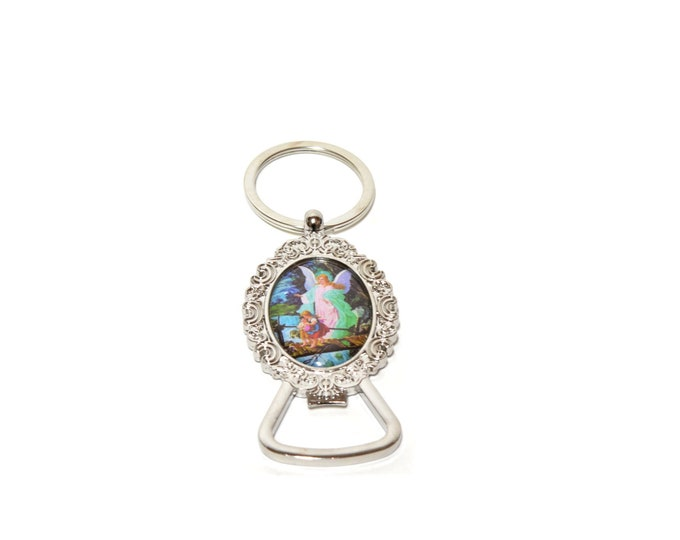 Guardian Angel Bottle Opener-Key Chain Christening Party Favors