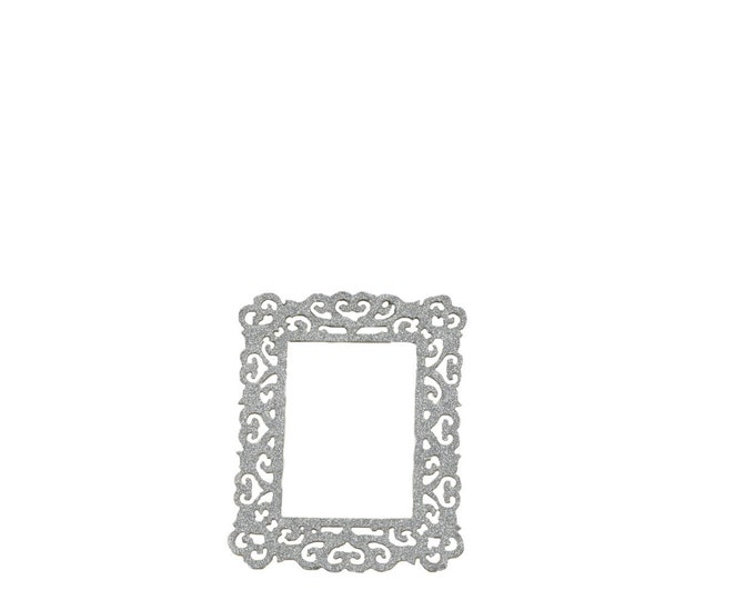 Wood Glitter Frames-Party Decorations-Silver