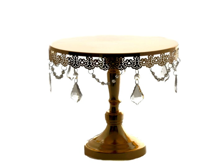 Wedding Cake Stand-Round Cake Stand Crystal Drop. L