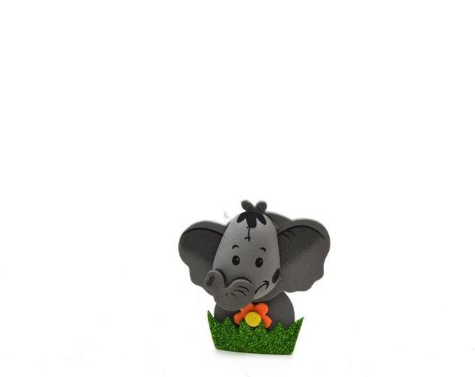 Elephant 3D Glitter Foam Party Favors. M - S