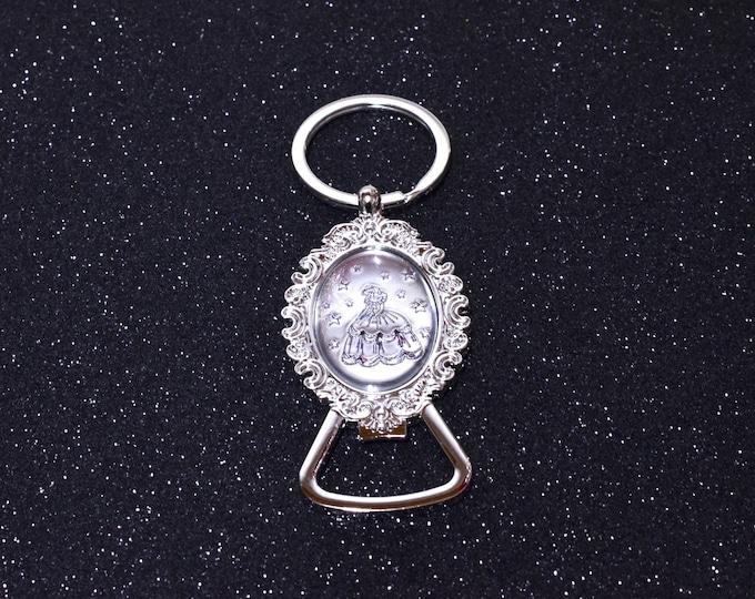Key Chain Bottle Opener-Quinceanera Favors.