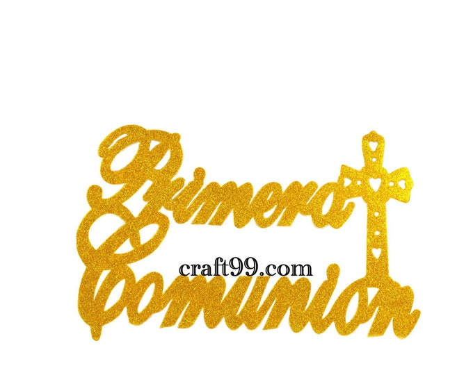 First Communion Glitter Foam Wall Hanging Banner. XL.