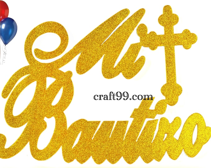 Mi Bautizo Banner Christening Wall Decor Sign Party Decorations. XXL.