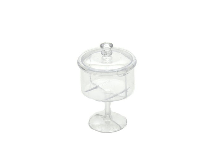 Plastic Candy Jar-Party Favors With Lid.