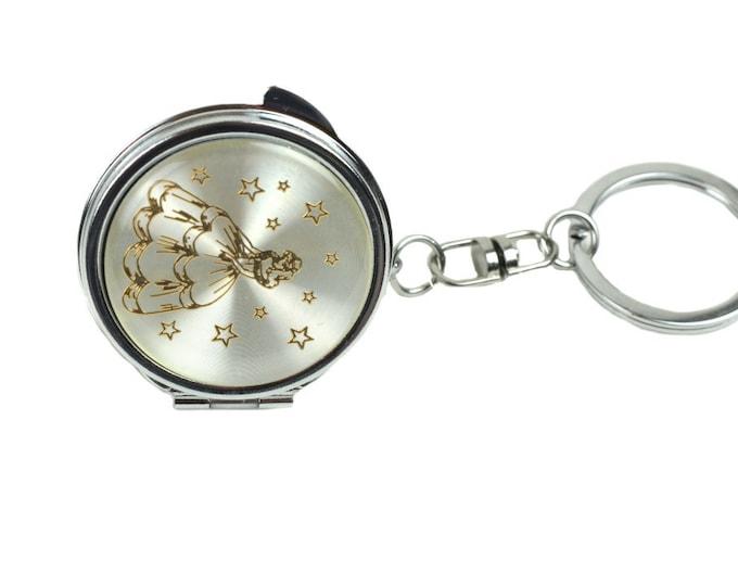 Key Chain-Compact Mirror-Fifteen Birthday Gift.