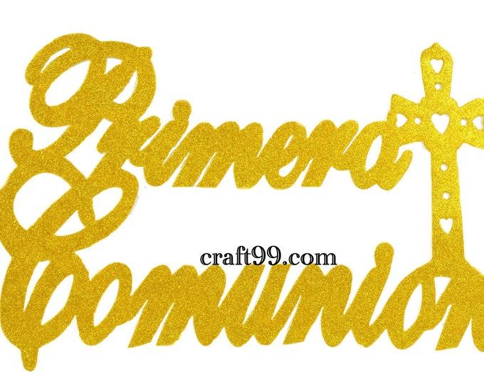 First Communion Glitter Foam Wall Hanging Banner. XXL.