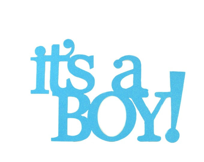 It's A Boy Glitter Foam Baby Shower Banner