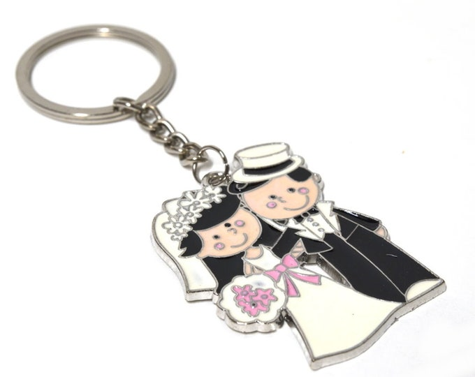 Wedding Gift Key Chain Party Favors-Couple Figure.