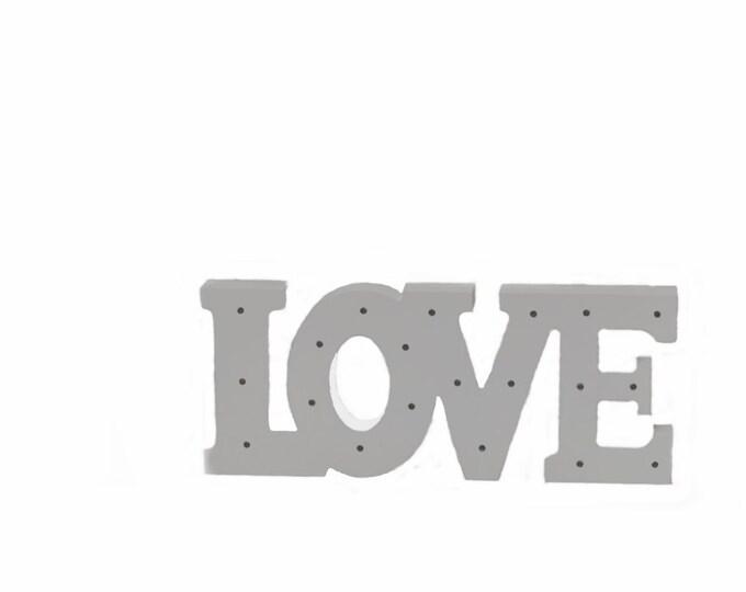Wooden Love Sign LED Light-Wedding Decor.