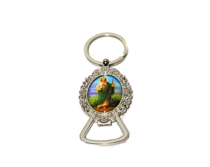 Saint Jude Bottle Opener-Key Chain Christening Party Favors