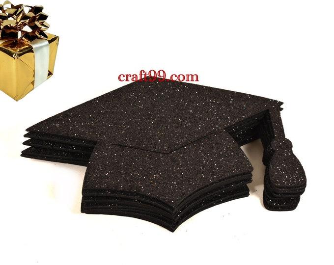 Glitter Foam Graduation Cap Party Decorations. L